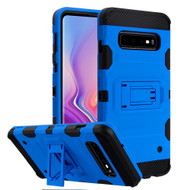 Military Grade Certified Storm Tank Hybrid Armor Case with Stand for Samsung Galaxy S10 - Blue