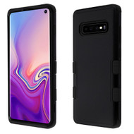 Military Grade Certified TUFF Hybrid Armor Case for Samsung Galaxy S10 - Black