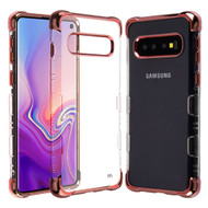 TUFF Klarity Lux Electroplating Transparent Anti-Shock TPU Case for Samsung Galaxy S10 - Rose Gold