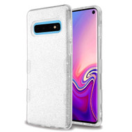Tuff Full Glitter Hybrid Protective Case for Samsung Galaxy S10 - Silver