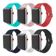 6-Pack Aluminum Buckle Silicone Band Strap for Apple Watch 44mm / 42mm