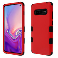 Military Grade Certified TUFF Hybrid Armor Case for Samsung Galaxy S10 - Red