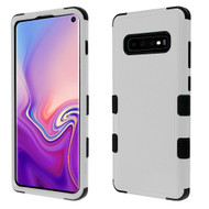 Military Grade Certified TUFF Hybrid Armor Case for Samsung Galaxy S10 - Grey
