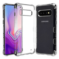 *Sale* TUFF Klarity Lux Electroplating Transparent Anti-Shock TPU Case for Samsung Galaxy S10 - Silver