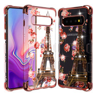 TUFF Klarity Lux Diamond Electroplating Transparent TPU Case for Samsung Galaxy S10 - Paris in Full Bloom