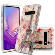 Military Grade Certified TUFF Lucid Transparent Hybrid Armor Case for Samsung Galaxy S10 - Paris in Full Bloom
