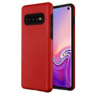 Carbon Fiber Hybrid Case for Samsung Galaxy S10 - Red