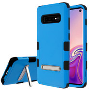 Military Grade Certified TUFF Hybrid Armor Case with Stand for Samsung Galaxy S10 - Blue