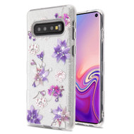 Tuff Full Glitter Diamond Hybrid Protective Case for Samsung Galaxy S10 - Purple Stargazers