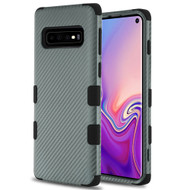 Military Grade Certified TUFF Fuse Hybrid Armor Case for Samsung Galaxy S10 - Carbon Fiber Grey