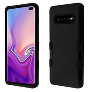 Military Grade Certified TUFF Hybrid Armor Case for Samsung Galaxy S10 Plus - Black
