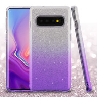 Full Glitter Hybrid Protective Case for Samsung Galaxy S10 Plus - Gradient Purple