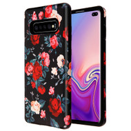 Fuse Slim Armor Hybrid Case for Samsung Galaxy S10 Plus - Red and white Roses