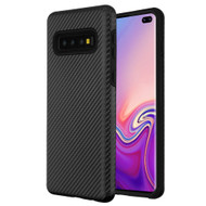 Carbon Fiber Hybrid Case for Samsung Galaxy S10 Plus - Black