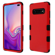Military Grade Certified TUFF Hybrid Armor Case for Samsung Galaxy S10 Plus - Red