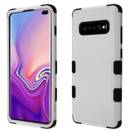 Military Grade Certified TUFF Hybrid Armor Case for Samsung Galaxy S10 Plus - Grey