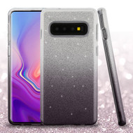 Full Glitter Hybrid Protective Case for Samsung Galaxy S10 Plus - Gradient Black