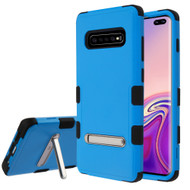 Military Grade Certified TUFF Hybrid Armor Case with Stand for Samsung Galaxy S10 Plus - Blue