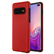 Carbon Fiber Hybrid Case for Samsung Galaxy S10 Plus - Red