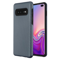 Carbon Fiber Hybrid Case for Samsung Galaxy S10 Plus - Blue