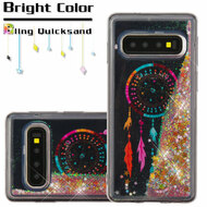 Quicksand Glitter Transparent Case for Samsung Galaxy S10 Plus - Dreamcatcher