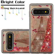 Quicksand Glitter Transparent Case for Samsung Galaxy S10 Plus - Eiffel Tower
