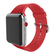 Soft Texture Silicone Band Strap for Apple Watch 44mm / 42mm - Red