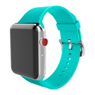 Soft Texture Silicone Band Strap for Apple Watch 44mm / 42mm - Turquoise