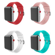 4-Pack Soft Texture Silicone Band Strap for Apple Watch 44mm / 42mm