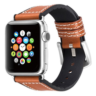 Hybrid Band Leather Watch Strap for Apple Watch 40mm / 38mm - Brown Black