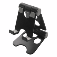 Adjustable Desktop Stand for Smartphones - Black