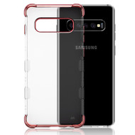 TUFF Klarity Lux Electroplating Transparent Anti-Shock TPU Case for Samsung Galaxy S10 Plus - Rose Gold