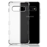 TUFF Klarity Lux Electroplating Transparent Anti-Shock TPU Case for Samsung Galaxy S10 Plus - Silver