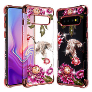 TUFF Klarity Lux Diamond Electroplating Transparent Anti-Shock TPU Case for Samsung Galaxy S10 Plus - Crane
