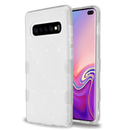 Tuff Full Glitter Hybrid Protective Case for Samsung Galaxy S10 Plus - Silver