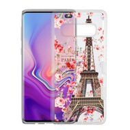 Military Grade Certified TUFF Lucid Transparent Hybrid Armor Case for Samsung Galaxy S10 Plus - Paris in Full Bloom