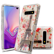 Military Grade Certified TUFF Lucid Transparent Hybrid Armor Case for Samsung Galaxy S10 Plus - Paris