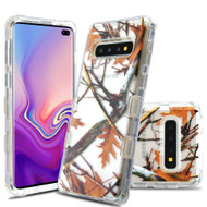 Military Grade Certified TUFF Lucid Transparent Hybrid Armor Case for Samsung Galaxy S10 Plus - Oak