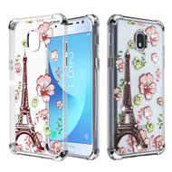 Klarion Crystal Clear Diamond Tough Case for Samsung Galaxy J3 (2018) / J3 Achieve / J3 Star - Eiffel Tower