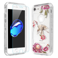 Military Grade Certified TUFF Lucid Plus Case with Tempered Glass Screen Protector for iPhone 8 / 7 / 6S / 6 - Crane