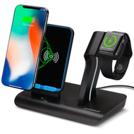 HyperGear 2-IN-1 Wireless Charging Dock - Black