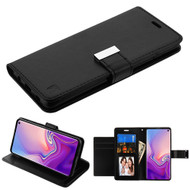 Essential Leather Wallet Stand Case for Samsung Galaxy S10 - Black
