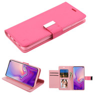 Essential Leather Wallet Stand Case for Samsung Galaxy S10 - Hot Pink