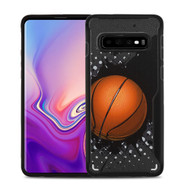 Vista Ultra Hybrid Shock Absorbent Fusion Case for Samsung Galaxy S10 - Slam Dunk