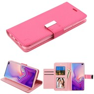 Essential Leather Wallet Stand Case for Samsung Galaxy S10 Plus - Hot Pink