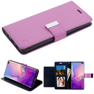 Essential Leather Wallet Stand Case for Samsung Galaxy S10 Plus - Purple