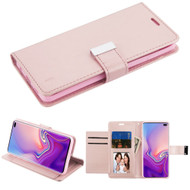 Essential Leather Wallet Stand Case for Samsung Galaxy S10 Plus - Rose Gold