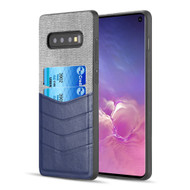 Executive Card Case for Samsung Galaxy S10 - Navy Blue Grey