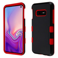 Military Grade Certified TUFF Hybrid Armor Case for Samsung Galaxy S10e - Black Red