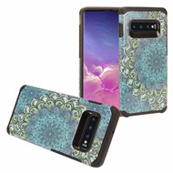 Hybrid Multi-Layer Armor Case for Samsung Galaxy S10 Plus - Blue Flower